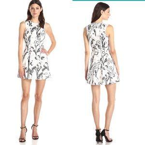 NWT Cynthia Rowley Exposed Seam White Floral Dress